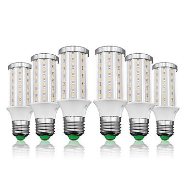 billige Elpærer-loende 6 pakke e27 ledet kornlys 15w ac85-265v 60leds smd5730 1500lm led lampe hvit / varm hvit
