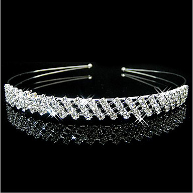 levne Šperky do vlasů-dámská elegantní princezna slitina stříbro kubický zirkonie pevné barvy