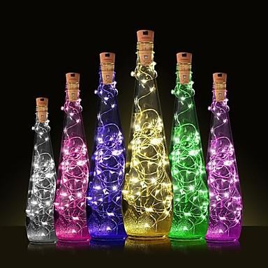 povoljno LED svjetla u traci-1pc Čep za boce vina LED noćno svjetlo Toplo bijelo Ukras / Lampa atmosfere