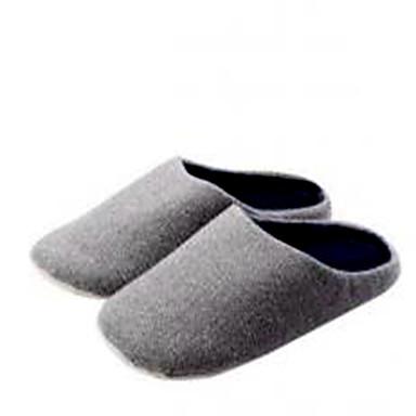 voordelige Damespantoffels & slippers-Dames Slippers & Flip-Flops Platte hak Katoen Lente Licht Grijs / Beige