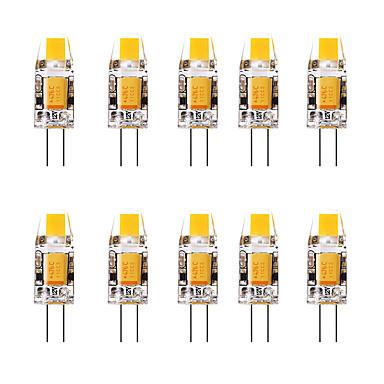 billige Elpærer-10pcs 1.5 W LED-lamper med G-sokkel 3000 lm G4 1 LED perler Varm hvit Hvit 12 V