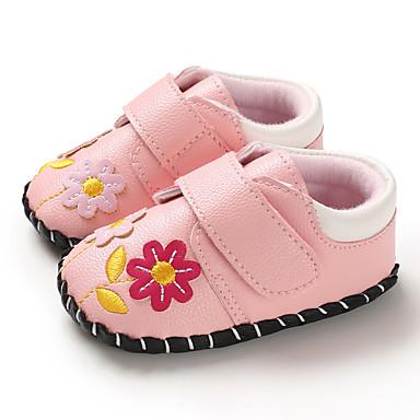 Genç Kız PU Spor Ayakkabısı Bebekler (0-9m) / Bebek (9 milyon 4ys) İlk Adım Beyaz / Pembe Bahar / Sonbahar