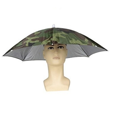 cheap Waders, Fishing Clothing-Foldable Rain Gear Fishing Hat Headwear Umbrella for Fishing Hiking Beach Cap Head Hats Outdoor Camping Equipment