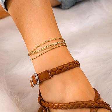 Kadın's Ayak bileği bilezik Ayak bileziği Mücevher Altın Uyumluluk Parti Günlük Cadde Tatil Festival