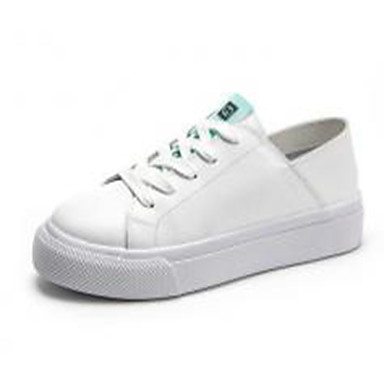 Kadın's Spor Ayakkabısı Düz Taban Deri İlkbahar yaz Yeşil / Pembe
