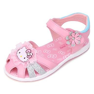 povoljno Dječje sandale-Djevojčice Eko koža Sandale Mala djeca (4-7s) / Velika djeca (7 godina +) Udobne cipele Cvijet Pink / Svjetlo ljubičasta / Pink Ljeto