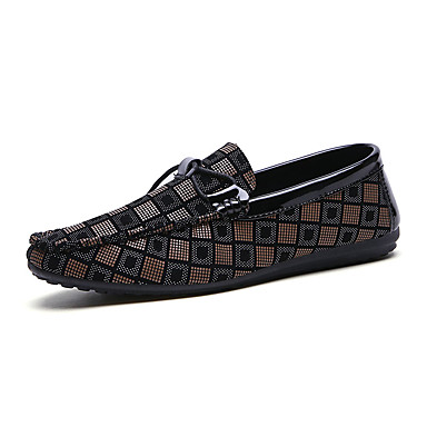 men's driving shoes pu spring casual loafers  slipons