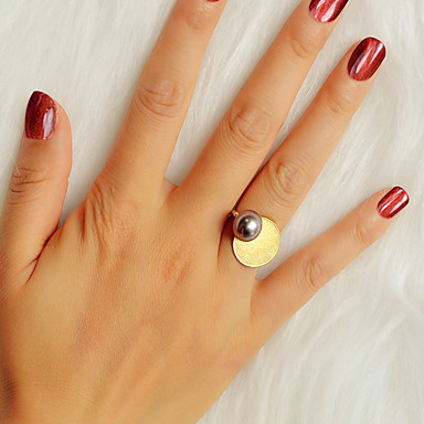billige Motering-Dame Ring 1pc Gull Imitert Perle / Legering Stilfull / Unikt design / Mote Gave / Daglig / Gate Kostyme smykker