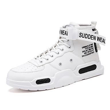 Erkek Ayakkabı Elastik Kumaş İlkbahar yaz / Sonbahar Kış Sportif Spor Ayakkabısı Günlük için Siyah / Beyaz / Kırmzı
