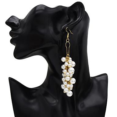 billige Moteøreringer-Dame Dråpeøreringer Vintage Stil Glede Perle øredobber Smykker Gylden Til Karneval Festival 1pc