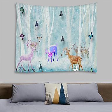 Çiçek Teması / Peri Masalı Teması Duvar Dekoru %100 Polyester Modern Duvar Sanatı, Duvar Halılar Dekorasyon