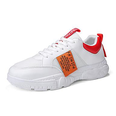 Erkek Ayakkabı Elastik Kumaş Sonbahar Sportif Atletik Ayakkabılar Günlük için Siyah / Beyaz / Bej