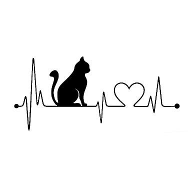 muoti sarjakuva kissa elektrokardiogrammi auton tarra sisustus
