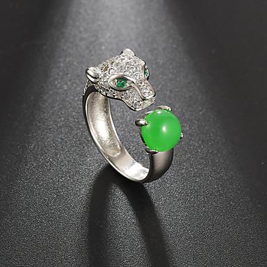 voordelige Dames Sieraden-Dames Ring Open Ring Kubieke Zirkonia 1pc Zilver Zilver Mat zwart Eenvoudig Klassiek Vintage Dagelijks Straat Sieraden Klassiek Sculptuur Cool Schattig