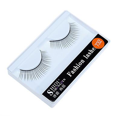 Kirpik 2 pcs Basit Kadın Ultra Hafif (UL) Rahat Günlük Uygun Fiber Günlük Giyim Seyahat Tam Şerit Kirpikler - Makyaj Makijaż dzienny Klasik Kozmetik Tımar Malzemeleri