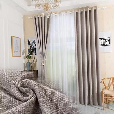 Modern Gizlilik İki Panel Perde Yatakodası   Curtains