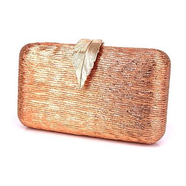 hesapli Çantalar-Kadın's Parıltı / Oyuklu Gece Çantası Arkilik / Polyester Geometrik Desenli Altın / Siyah / Gümüş