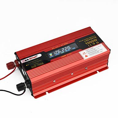 povoljno Alati i oprema-2000w 1000w pretvarači automobila dc inverteri 12v ac 110v / 220v pretvarač napona autowith punjač auto punjač LED zaslon usb solarni adapter