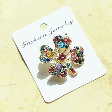 29ebaf08268 Women's Brooches Rainbow Cheap Ladies Party Fashion Color fancy Crystal  Cubic Zirconia Brooch Jewelry Rainbow For Wedding Party Special Occasion  Anniversary ...