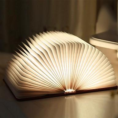 ราคาถูก ไฟตกแต่ง-1 ชิ้น tyvek กระดาษพับ led โคมไฟหนังสือในตัว li- แบตเตอรี่ขับเคลื่อนพับแบบชาร์จไฟตกแต่งที่มีพอร์ต usb ง่ายต่อการถือ 5 สีของแสงและ 8 สีของแสงไล่โทนสี