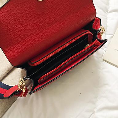 povoljno Odabrane vrećice-Žene PU Torba preko ramena Jedna barva Crn / Red / Kava