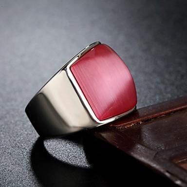 voordelige Herensieraden-Heren Bandring Ring 1pc Blauw Roze Lichtblauw Titanium Staal Cirkelvormig Vintage Standaard Modieus Dagelijks Sieraden