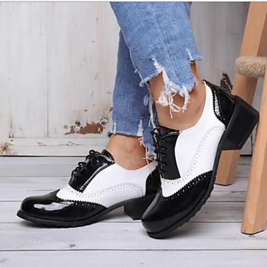 Unisex Düz Ayakkabılar Düz Taban Yuvarlak Uçlu PU Bootiler / Bilek Botları Yaz Siyah / Siyah / Beyaz / Kahverengi
