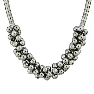 Kadın's Boncuk kolye Boncuklar Koreli Tatlı Moda Krom Gümüş 36.5 cm Kolyeler Mücevher 1pc Uyumluluk Hediye Günlük Çalışma