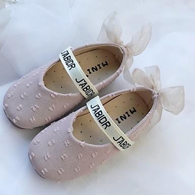 baratos Sapatos de Criança-Para Meninas Algodão Rasos Little Kids (4-7 anos) Mocassim Verde / Branco / Rosa claro Outono