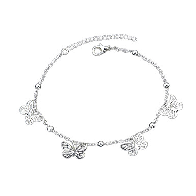 abordables Bracelet-Bracelet Pendentif Femme Géométrique Papillon Européen Mode Bracelet Bijoux Argent pour Quotidien Travail Festival