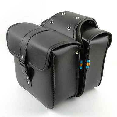 voordelige Auto-organizers-Motorfiets hulpstukken zijbagage lederen stof rijder tas kit voor cruiser zijtas