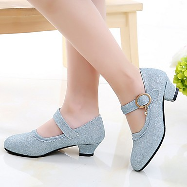 baratos Sapatos de Criança-Para Meninas Sintéticos Saltos Big Kids (7 anos +) Sapatos para Daminhas de Honra Dourado / Azul / Rosa claro Primavera