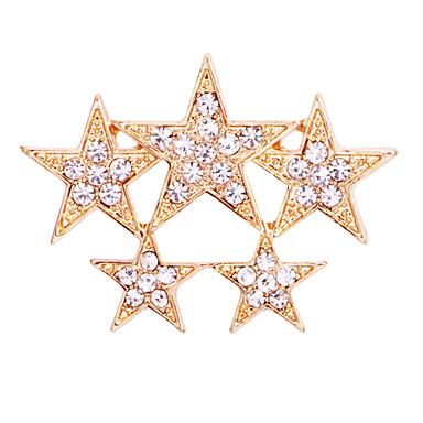 abordables Epingles & Broches-Homme Zircon Broche Stardust Etoile Luxe Basique Tendance Mode Broche Bijoux Dorée Argent Pour Mariage Soirée Quotidien Travail