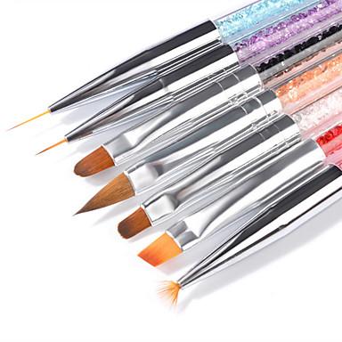 voordelige Nagelgereedschap & Apparatuur-7pcs Geitenhaar / PVC / Kunst Edelstenen Nail Painting Tools Voor Vingernagel Universeel Sieraden Series Nagel kunst Manicure pedicure Stijlvol / Luxe Dagelijks