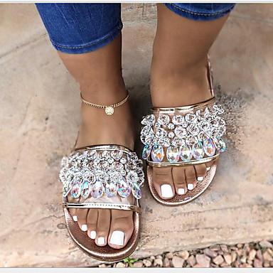 voordelige Damespantoffels & slippers-Dames Slippers & Flip-Flops Platte hak Ronde Teen EVA Zomer Zwart / Bruin / Wit