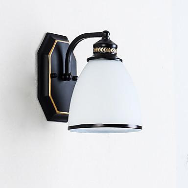 basit cam duvar lambaları& Aplikleri yatak odası / çalışma odası / ofis metal duvar lambası