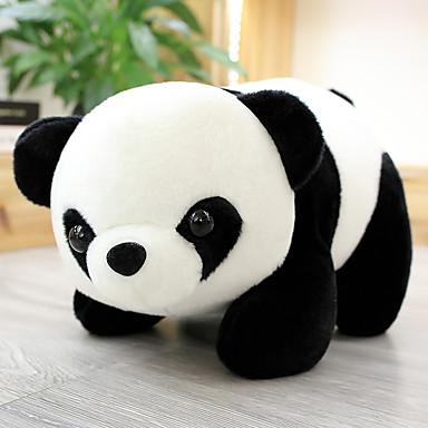 voordelige Knuffels & Pluche dieren-Panda Knuffels & Pluche dieren Kantoor Bureau Speelgoed Aanbiddelijk voortreffelijk 70% Acryl / 30% Katoen Mengvezel Poly en Katoen Katoenflanel Allemaal Speeltjes Geschenk 1 pcs