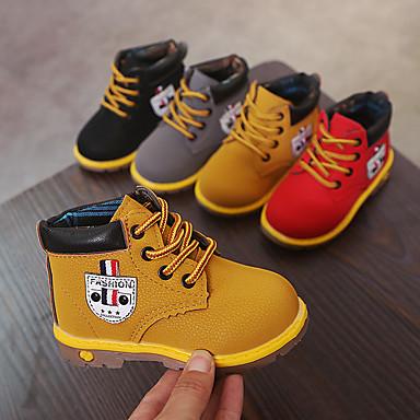 halpa Lasten saappaat-Poikien / Tyttöjen PU Bootsit Taapero (9m-4ys) / Pikkulapset (4-7 vuotta) Comfort / Maiharit Musta / Keltainen / Punainen Kevät / Syksy