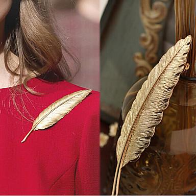 Erkek Kadın's Broşlar Uzun Kuş tüyü Basit Lüks moda Moda Broş Mücevher Altın Uyumluluk Düğün Hediye Cadde Söz vermek