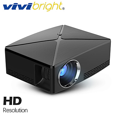 voordelige Projectors-vivibright c80 / up mini projector, 1280x720p resolutie, android wifi proyector, led draagbare 3d beamer voor 4k home cinema, ondersteuning 1080p, hdmi, usb, av, vga-poort, optionele c80 c80up