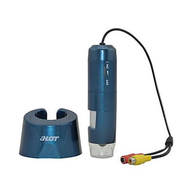 Taşınabilir dijital mikroskop 8led dijital zoom büyüteç tv / av arayüzü ht-p30 mikroskop