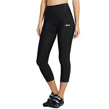 21Grams Kadın's Bisiklet 3/4 Taytı Bisiklet Bisiklet Tayt Pantolonlar Alt Giyimler Nefes Alabilir 3D Pet Hızlı Kuruma Spor Dalları Geometrik Splandeks Siyah Dağ Bisikletçiliği Yol Bisikletçiliği Giyim