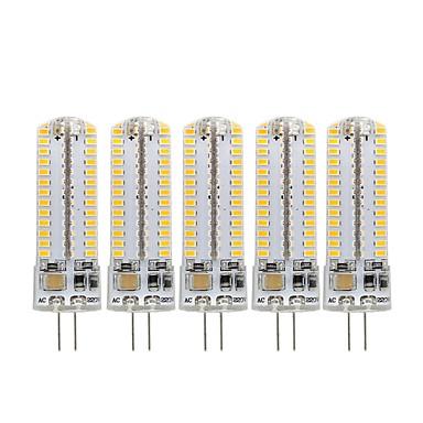 abordables Ampoules électriques-5pcs 3 W Ampoules Maïs LED 270 lm G4 104 Perles LED SMD 3014 Décorative Adorable Blanc Chaud Blanc Froid 220-240 V 110-130 V