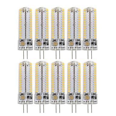 billige Elpærer-10pcs 3 W LED-kornpærer 270 lm G4 104 LED perler SMD 3014 Dekorativ Smuk Varm hvit Kjølig hvit 220-240 V 110-130 V