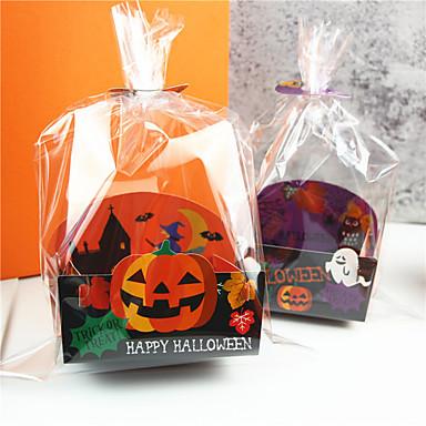 billige Gaveesker-50stk halloween plast godteripose festlig festdekorasjoner kjeks poser halloween forsyninger