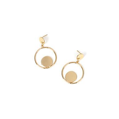 baratos Bijuteria de Mulher-Mulheres Brinco Geométrico Precioso Brincos Jóias Dourado / Prata Para Diário 2pcs