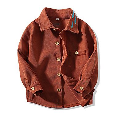halpa Vauvojen vaatteet Pojat-Vauva Poikien Perus Yhtenäinen Pitkähihainen Paita Ruskea