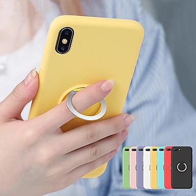 billige iPhone-etuier-magnetisk myk tpu veske for iphone xs max xr xs x 8 pluss 8 7 pluss 7 6 pluss 6 flytende silikon støtsikkert holder deksel