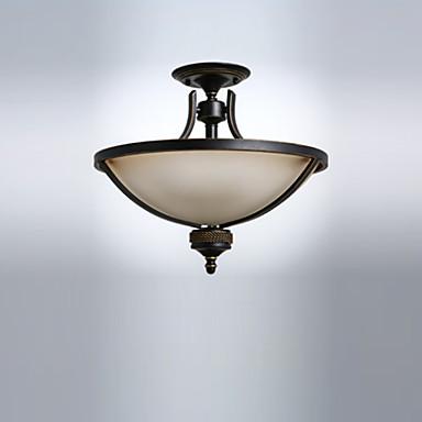 Tavan ışık gömme montaj antika cam ışıkları downlight boyalı oturma odası yemek odası için tavan armatürleri bitirir