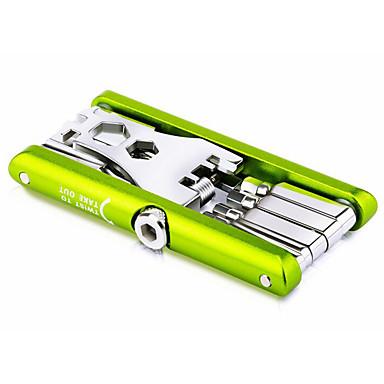 abordables Accessoires de Vélo-Outils de vélo Multifonctions Multifonctionnel Portable Multifonction Sécurité Pour Vélo de Route Vélo tout terrain / VTT Cyclotourisme Vélo à Pignon Fixe Cyclisme Alliage de métal Mix Vert